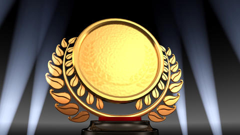 Medal Prize Trophy E2 HD Stock Video Footage