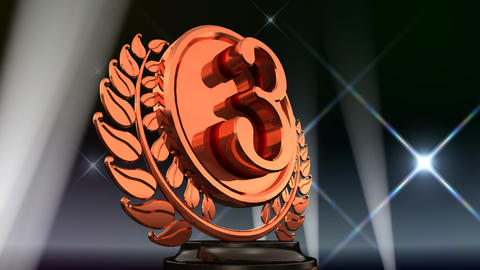Medal Prize Trophy Eb5Flash HD Stock Video Footage
