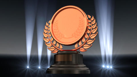 Medal Prize Trophy G2 HD Stock Video Footage