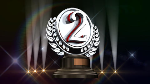 Medal Prize Trophy Gb3 HD Stock Video Footage
