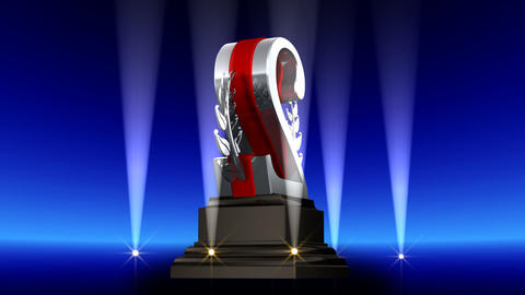 Number Trophy Prize Ab2 HD Animation