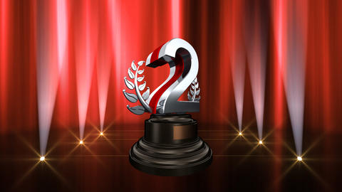 Number Trophy Prize B6 HD Stock Video Footage
