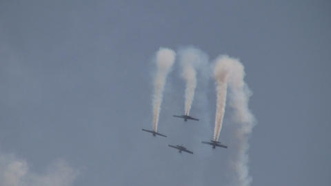 Aerobatics formation Stock Video Footage