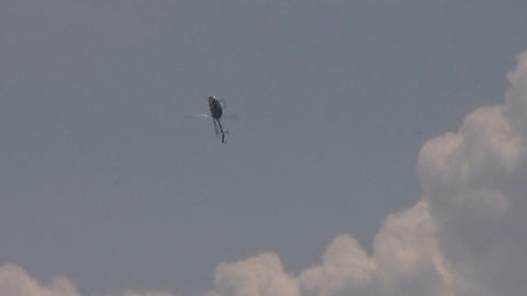 BO 105 helicopter aerobatics Stock Video Footage