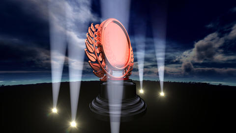 Medal Prize Trophy B3sky HD Stock Video Footage