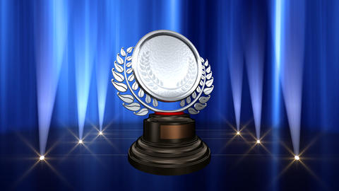 Medal Prize Trophy B6 HD Stock Video Footage