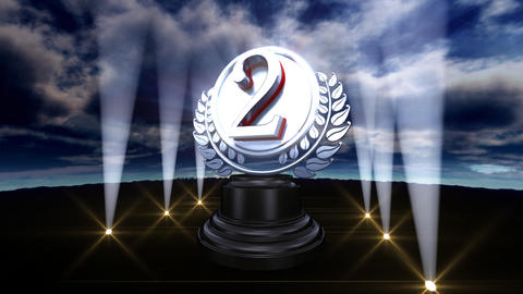 Medal Prize Trophy Bb3sky HD Stock Video Footage