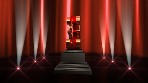 Number Trophy Prize Bb6 HD Stock Video Footage