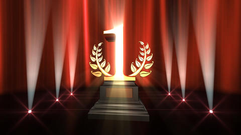 Number Trophy Prize Bb6 HD Animation