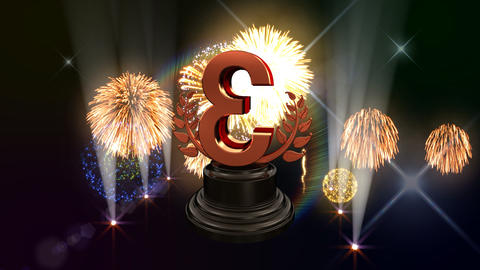 Number Trophy Prize C3Flash HD Stock Video Footage