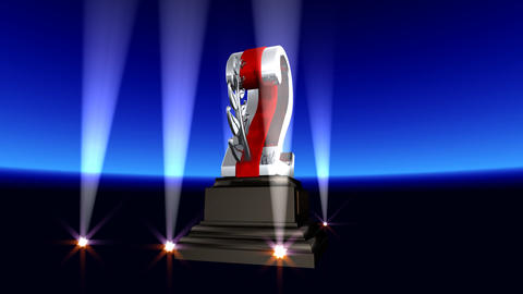 Number Trophy Prize Cb2 HD Stock Video Footage