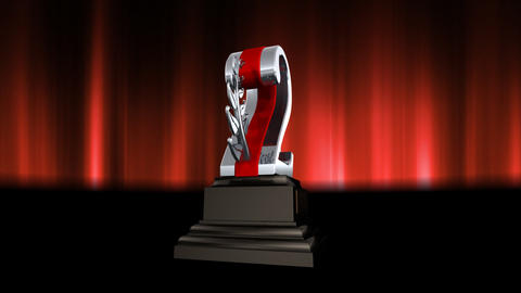 Number Trophy Prize Cb6 HD Stock Video Footage