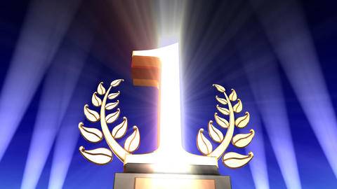 Number Trophy Prize Db2 HD Animation