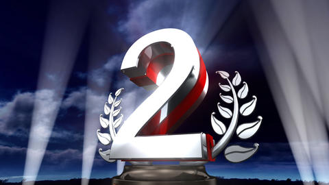 Number Trophy Prize E3sky HD Stock Video Footage