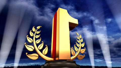 Number Trophy Prize E3sky HD Animation