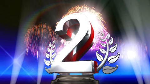 Number Trophy Prize E5Flash HD Stock Video Footage