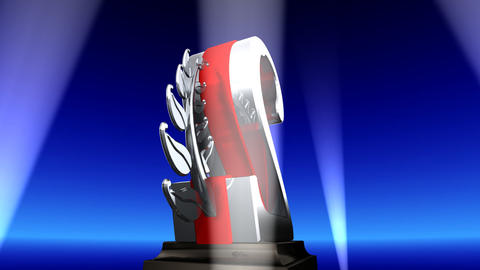 Number Trophy Prize Eb2 HD Stock Video Footage