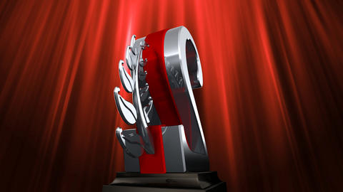 Number Trophy Prize Eb6 HD Stock Video Footage