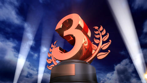 Number Trophy Prize F3Flash HD Stock Video Footage