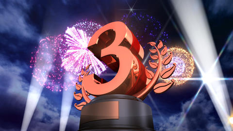 Number Trophy Prize F5Flash HD Stock Video Footage
