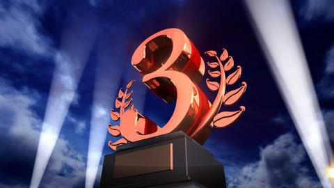 Number Trophy Prize Fb3sky HD Stock Video Footage