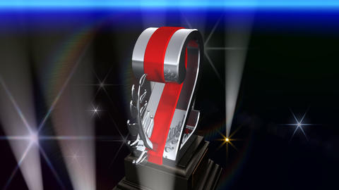 Number Trophy Prize Fb5Flash HD Stock Video Footage