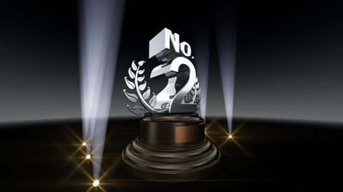 Number Trophy Prize No B2 HD Stock Video Footage
