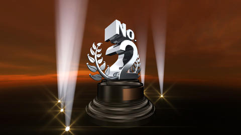 Number Trophy Prize No B4sky HD Animation