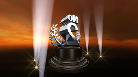Number Trophy Prize No B4sky HD Stock Video Footage