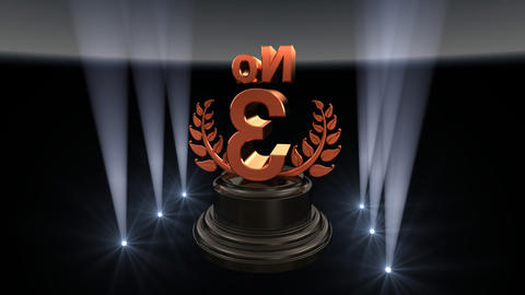 Number Trophy Prize No C2 HD Stock Video Footage