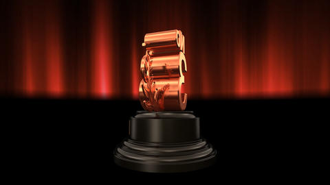 Number Trophy Prize No C6 HD Stock Video Footage