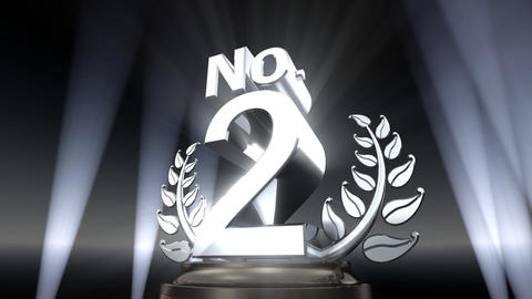 Number Trophy Prize No E2 HD Stock Video Footage