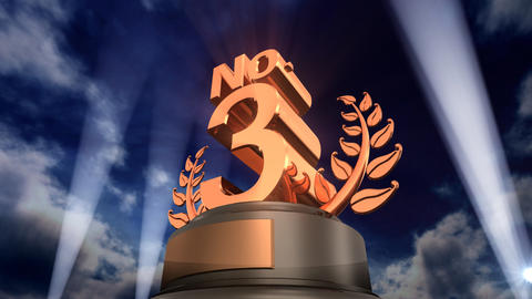 Number Trophy Prize No F3Flash HD Stock Video Footage