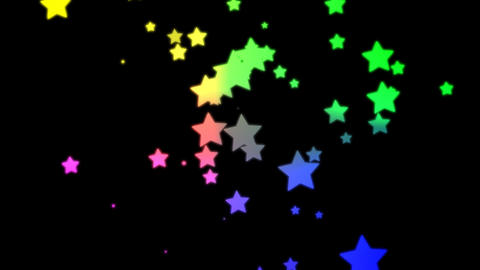 Loopable Falling Stars Animation Animation
