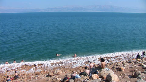 dead sea 26 Stock Video Footage