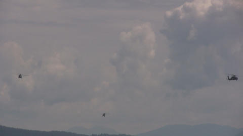 Helicopter Aerobatics Stock Video Footage