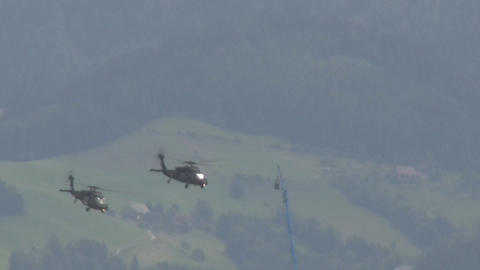 Helicopter formation Stock Video Footage