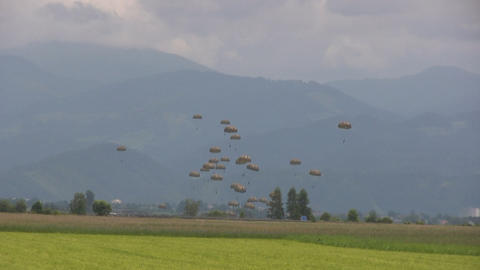 Parachutes Stock Video Footage