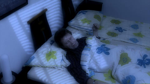 10660 man sleep bad dream get frightened Stock Video Footage