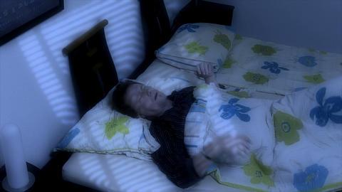 10660 man sleep bad dream get frightened Stock Video Footage