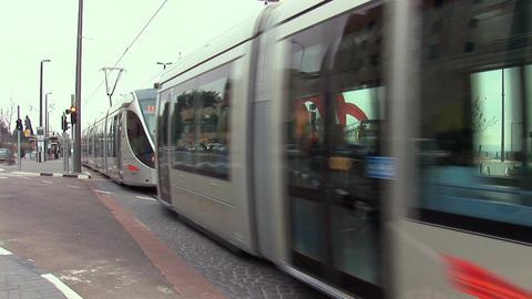 Jerusalem tram 3 Footage