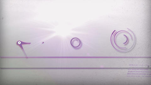purple light line technology Animation