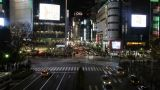 Time Lapse From The Night Of Shibuya City, And A Scramble Crossing,Japan stock footage