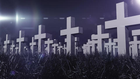 Cemetery 04 Stock Video Footage