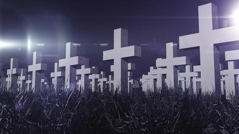 Cemetery 04 Stock Video Footage