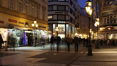 European City Timelapse 60 zoom Stock Video Footage