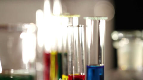 Laboratory CSI 43 focus change Stock Video Footage