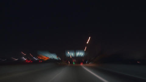 Freeway City Driving Time-lapse Footage
