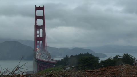 Golden Gate Bridge Wide Time-lapse Footage