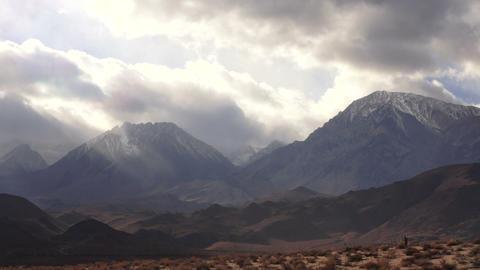 Soft White Clouds Pass By High Peak Sierra Nevada Range Footage